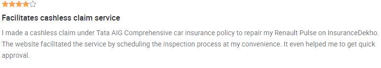 Tata Aig Car Insurance Review